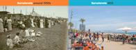 Strand La Barceloneta - Då och nu