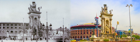 The Plaza Espanya in Barcelona