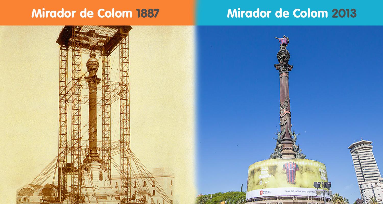 Historia del Monumento de Colón en Barcelona