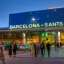 Estação de Sants de Barcelona nas proximidades