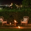 Romantic garden at night