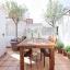 Muebles de la terraza