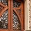 Patrón intrincado puerta floral