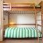 ツインルーム二段ベッド付け共用バスルーム