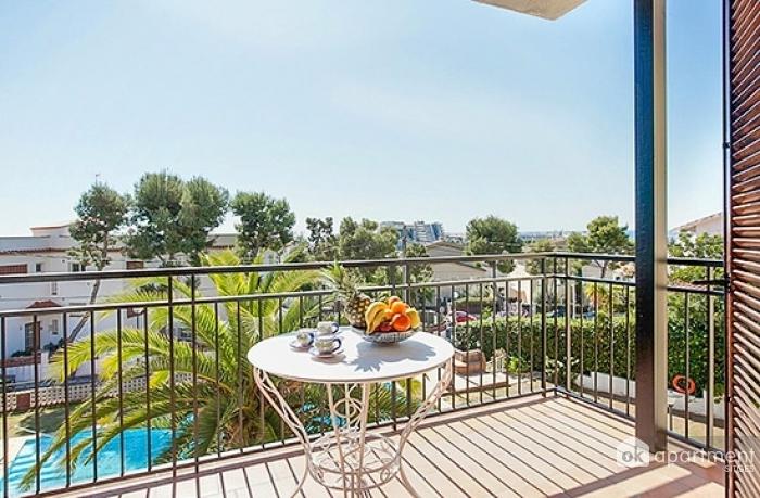 Balcón con bonitas vistas