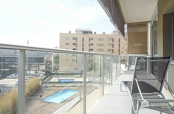 Solig balkong