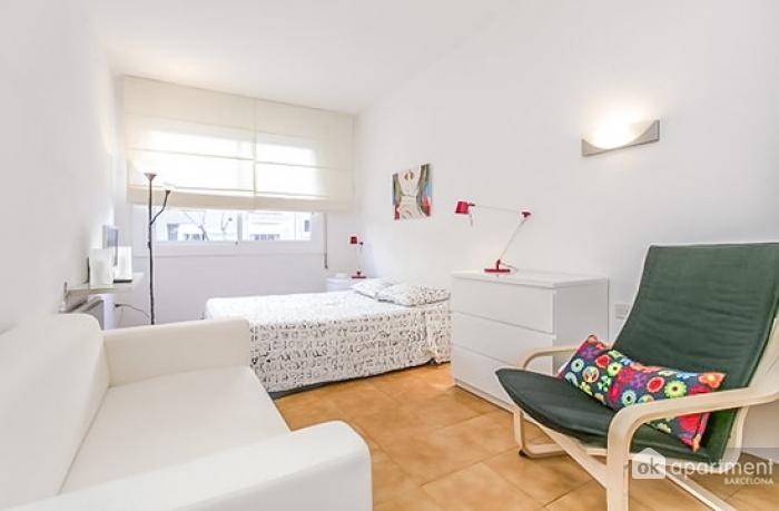 Well-lit studio apartment