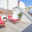 Roof terrace with sun chairs