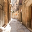 Charming street on the gothic quarter.