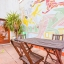 Egen terrass med ursprungliga fresker i Barcelona
