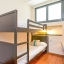 Chambre double avec lits superposés