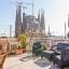 Terrasse med utsikt over Sagrada Familia