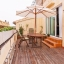 Spacious terrace with wooden decking