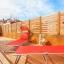 Fællesskabet terrasse med liggestole
