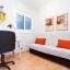 Kontor med nedfellbar seng