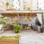 Large terrace with shaded relax area