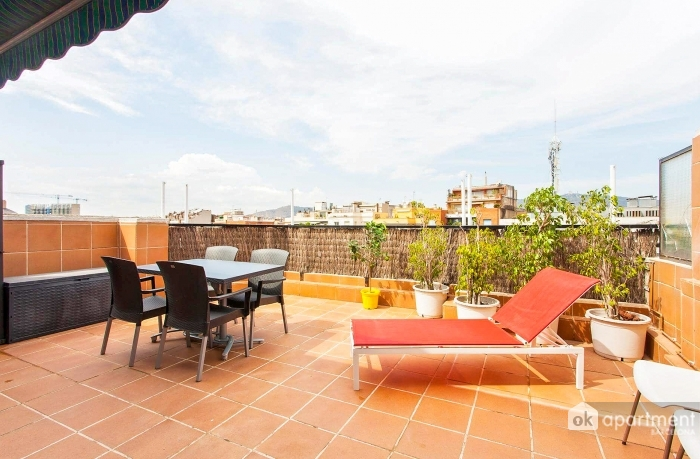 Large furnished terrace