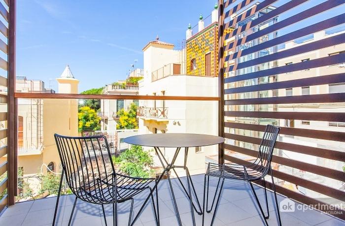 Klein terras balkon