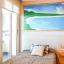Chambre à coucher avec peinture