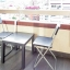 Table on balcony