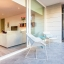 Varanda terraço e entrada para a sala de estar