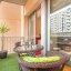 Moderna varanda ideal para jantar fora