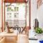 Living comedor con balcon