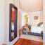 Moderne soveværelse med dobbeltseng