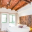 Bedroom with rustic beams