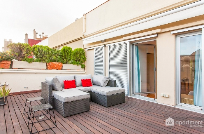 Spacious furnished terrace