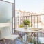 Møbleret balkon