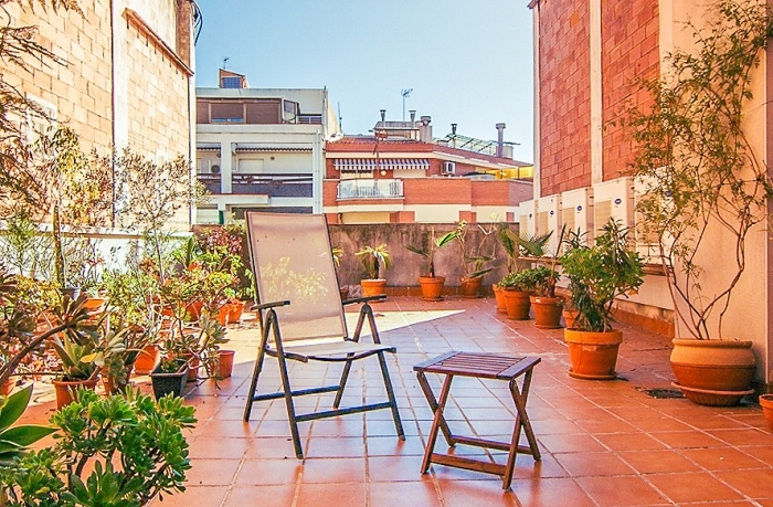 Shared terrace on roof